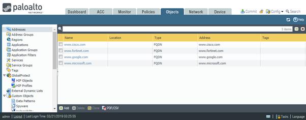 Palo Alto Firewalls Configuration Management - Threat Filtering